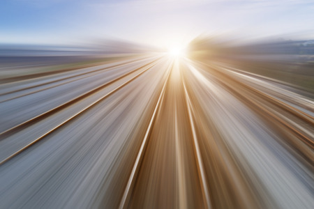 Der Weg nach vorn Eisenbahn Standard-Bild - 35355353