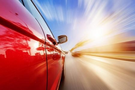 모션 블러 배경으로 도로에 자동차 스톡 콘텐츠 - 35409588
