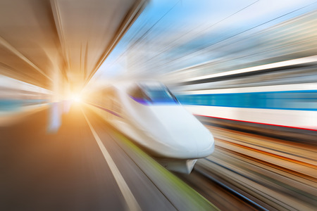 highspeed: very high-speed train Stock Photo