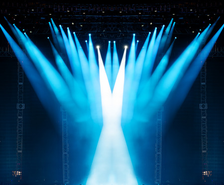 concert background: Vector Stage Spotlight with Laser rays