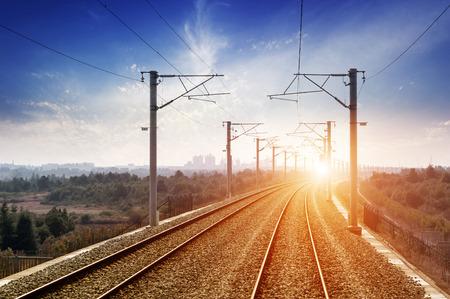 complicated journey: railway tracks