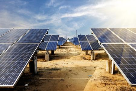 太陽電池セル 写真素材