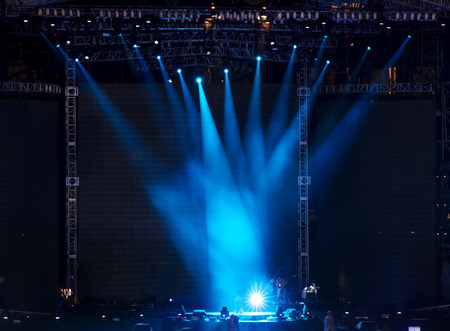 entertainment background: Stage Spotlight with Laser rays