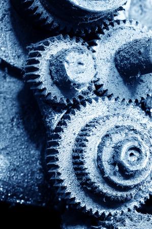 machines: Old gear, factory waste machines.