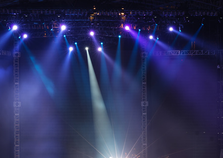 empty stage: Vector Stage Spotlight with Laser rays
