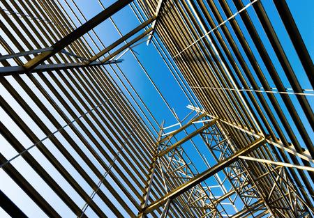 formwork: Metal formwork building above