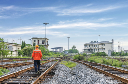 crossway: The way forward railway,worker checking