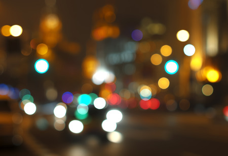 urban road: Beautiful background on dark, out of Focus Lights during the Night. Stock Photo