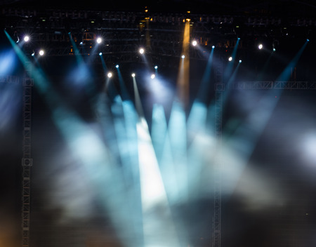 rock: Vector Stage Spotlight with Laser rays