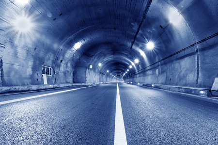 tunnel view: View in the tunnel  Stock Photo