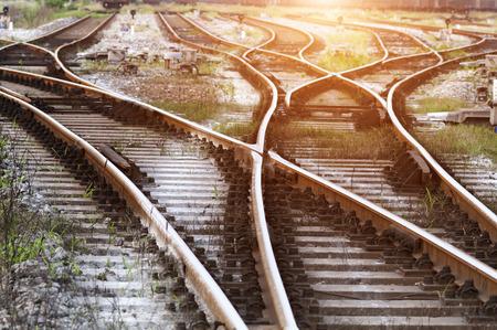 railway tracks  스톡 콘텐츠