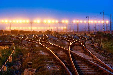 railway tracks: Railway tracks  Stock Photo