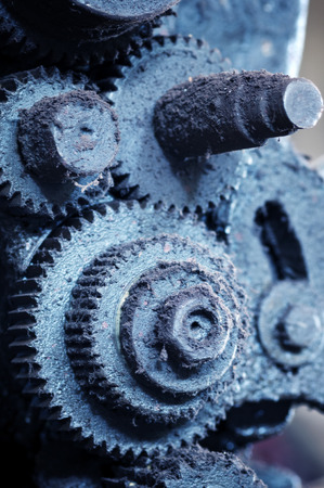machines: Old gear, factory waste machines.