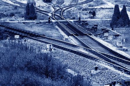 railway tracks: Overlook railway tracks