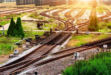 railway points: Overlook railway tracks