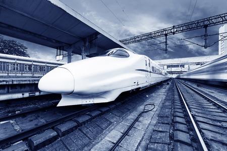 rail route: High-speed train