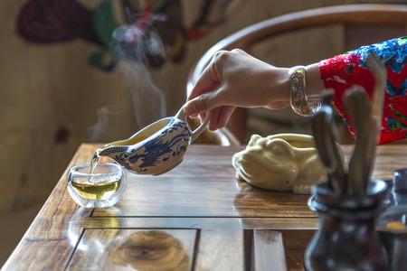 ceremony: Chinese tea ceremony Stock Photo