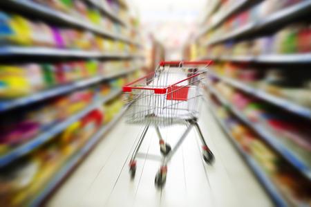 supermarket cart 写真素材