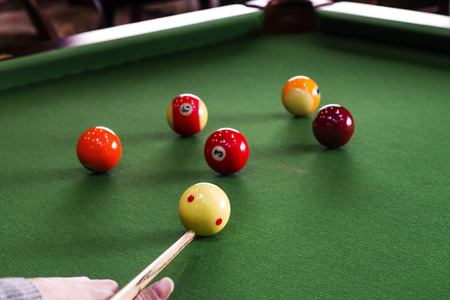 billiards hall: Carom billiards straight single shot