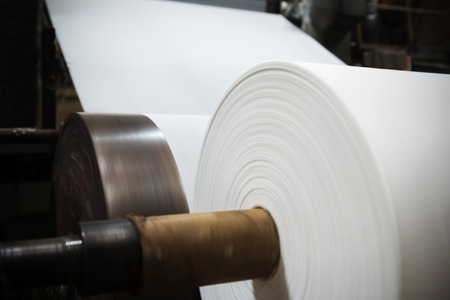 commerce and industry: Paper and pulp mill Stock Photo