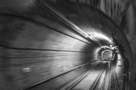 fluorescent light: subway tunnels