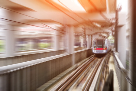 Corporations: high-speed train motion mode Stock Photo