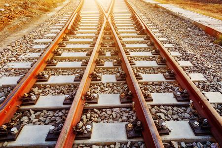 mainline: close-up shots of the tracks