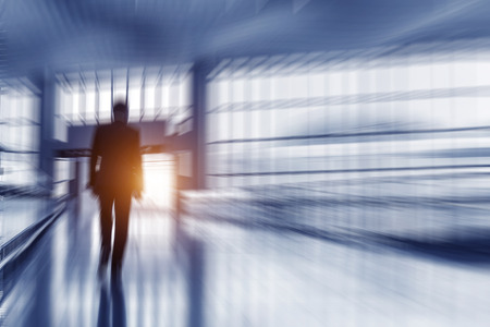 motion picture: Motion picture of a walking man Stock Photo