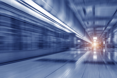 blur subway: The subway station with motion blur