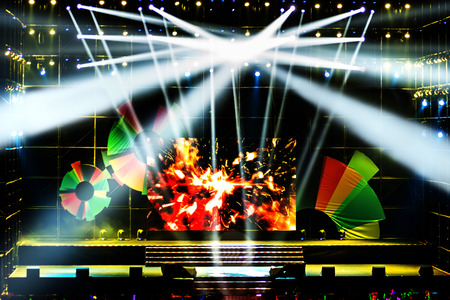show: Stage Spotlight with Laser rays