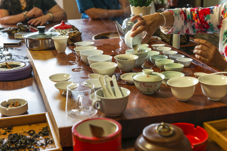 feier: Chinesische Tee-Zeremonie Lizenzfreie Bilder