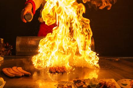 roasting teppanyaki