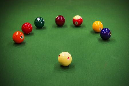 hand rails: Carom billiards Stock Photo