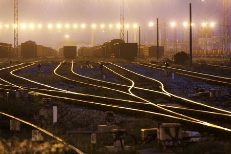 ferrocarril: El ferrocarril hacia delante manera Foto de archivo