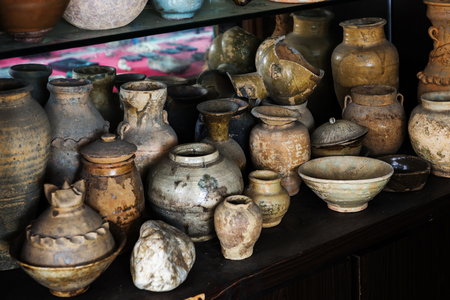 antique vase: old clay pots