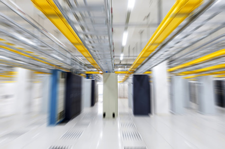 secure data: orbital in the Telecommunication room Stock Photo
