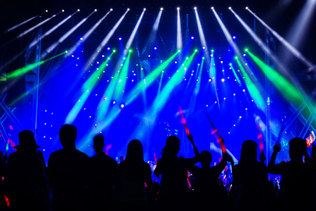 party night: Stage Spotlight with Laser rays