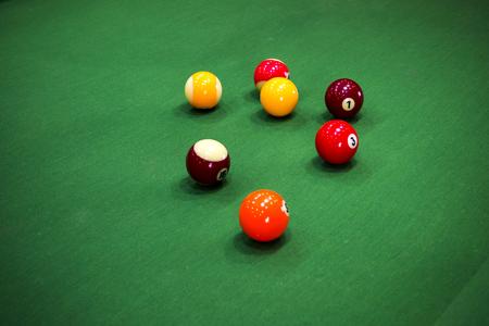 snooker halls: Carom billiards Stock Photo