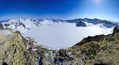 alpine zone: China alpine zone of changbai mountain lake