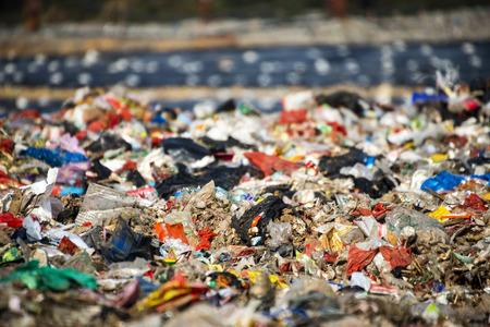 wasteful: landfill waste site Stock Photo