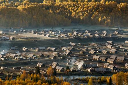 xinjiang: Hemu village in Kanas Nature Reserve, Xinjiang, China