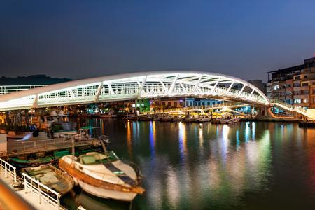 the modern bridge in  Kaohsiung Stock Photo