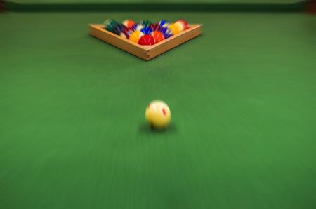 pool halls: Carom billiards Stock Photo