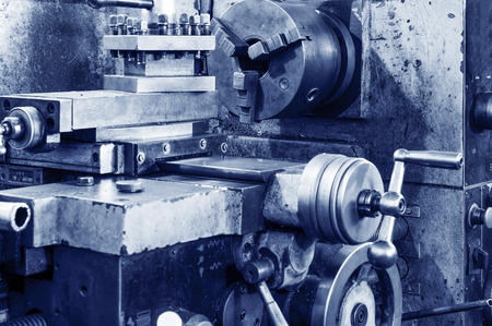 machines: ery old gear, factory waste machines. Stock Photo