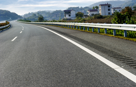 tilted view: Newly built highway
