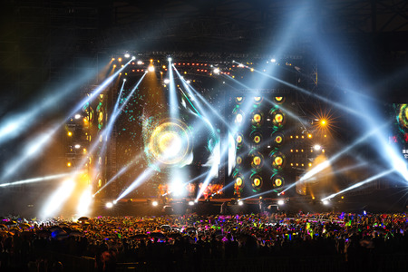 event party: Vector Stage Spotlight with Laser rays