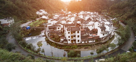 oriented: Overlooking the circular village in the China