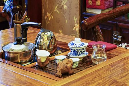 tradition: Chinese tea ceremony Stock Photo