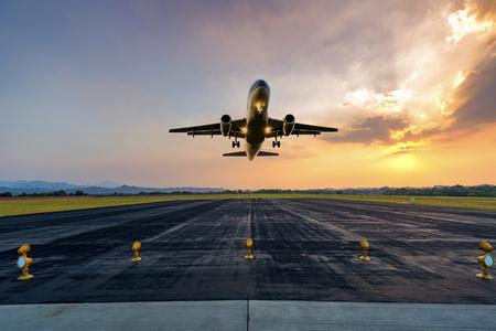 passenger plane   take-off atrunway from airport
