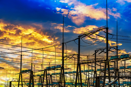 High Voltage electric substation